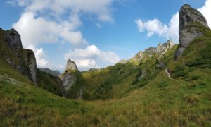 View over Ciucas mountains, Romania